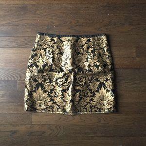ZARA gold mini skirt